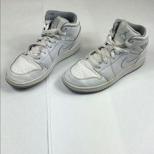 Nike Air Jordan 1 Mid BG Kids Wolf Gray